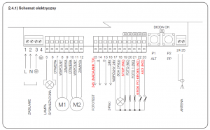 Schemat podlaczenia A400